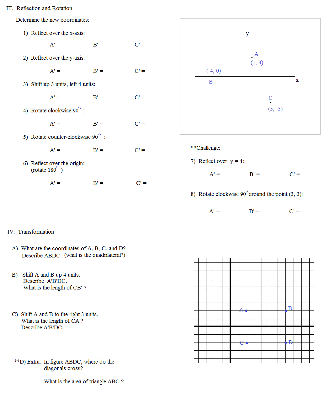 Math Plane Coordinate Geometry 2 – Coordinate Geometry Worksheets
