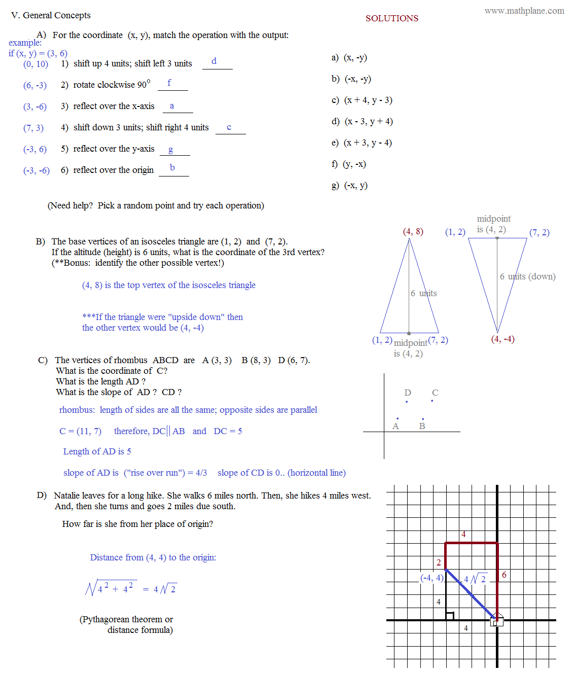 Geometry Translation Worksheets – Translation Math Worksheets