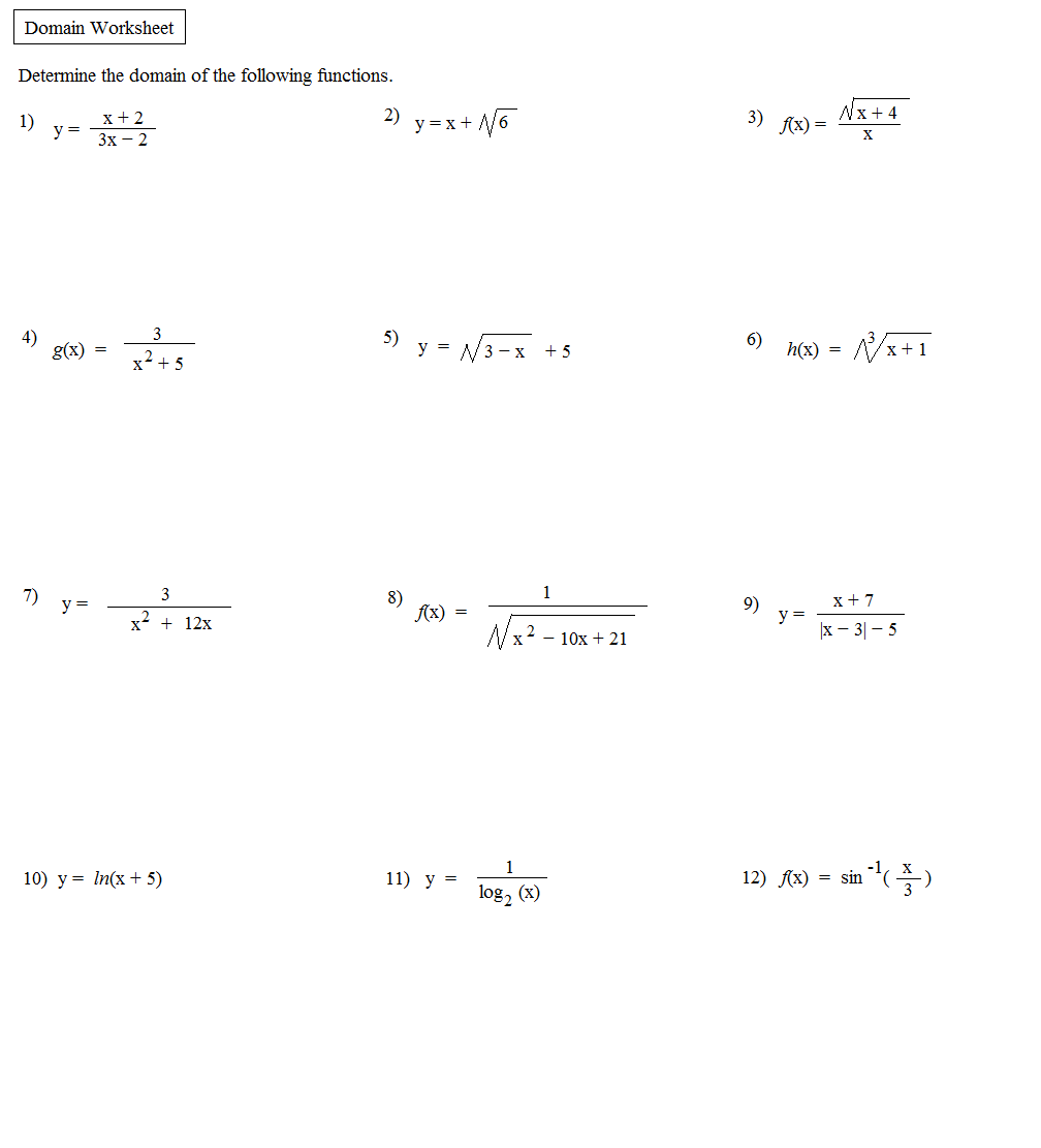 Worksheets Composite Function Worksheet worksheets composition of functions worksheet math plane domain range relations worksheet