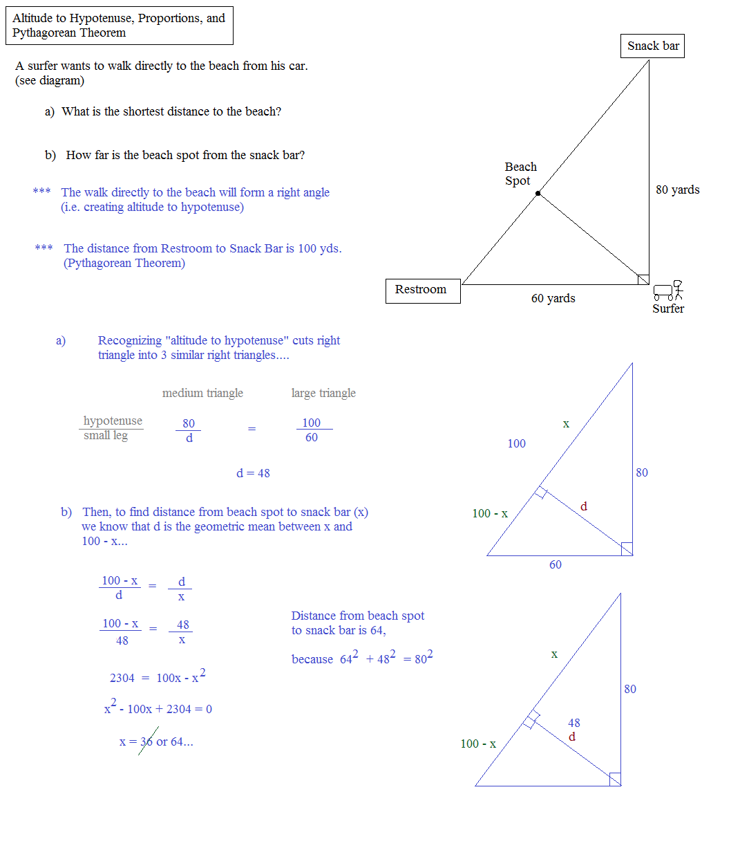 Math Plane Means Extremes and Right Triangles – Right Triangle Word Problems Worksheet