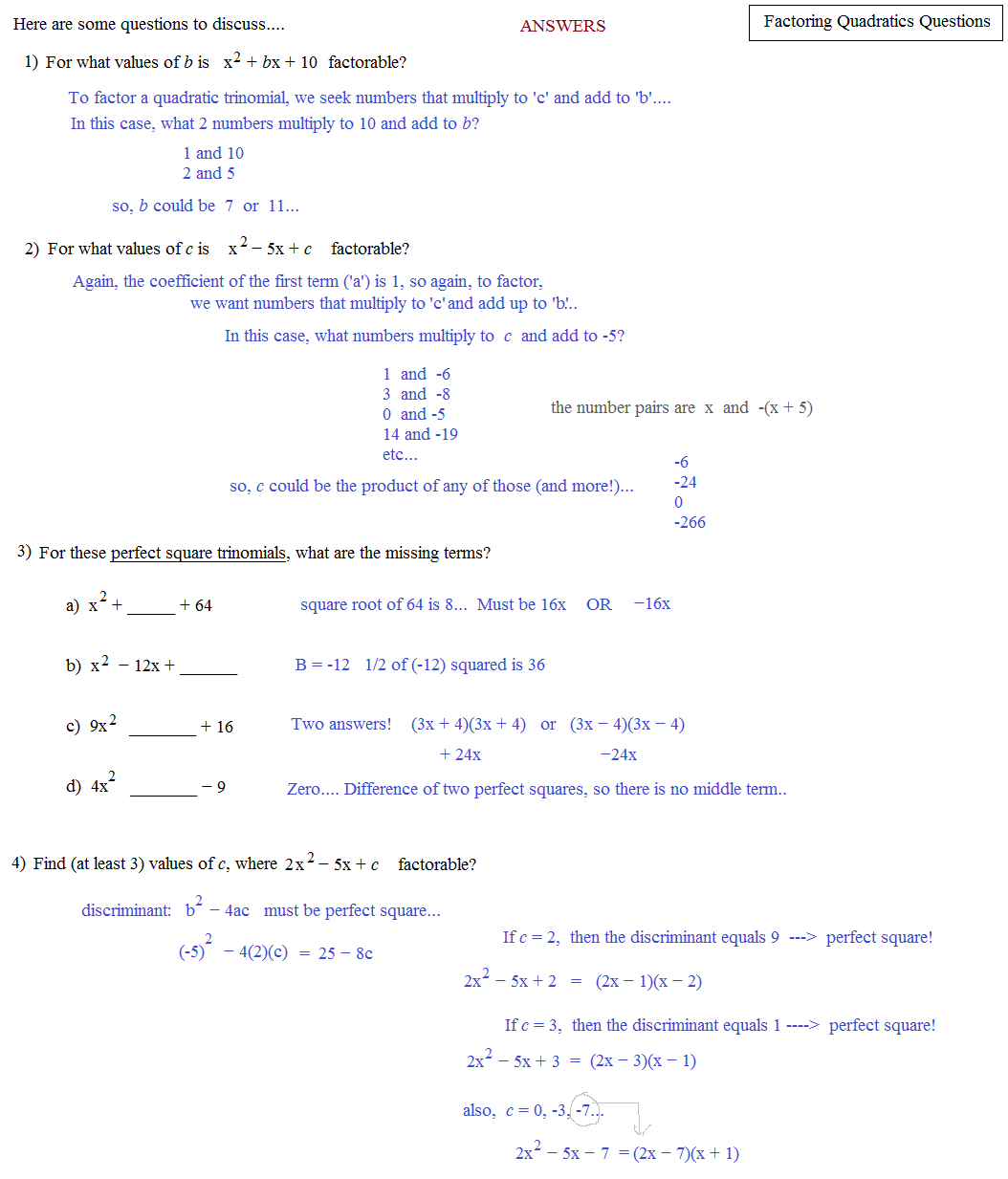 factoring trinomials a greater than 1 worksheet answers factorising quadratics worksheets by. Black Bedroom Furniture Sets. Home Design Ideas
