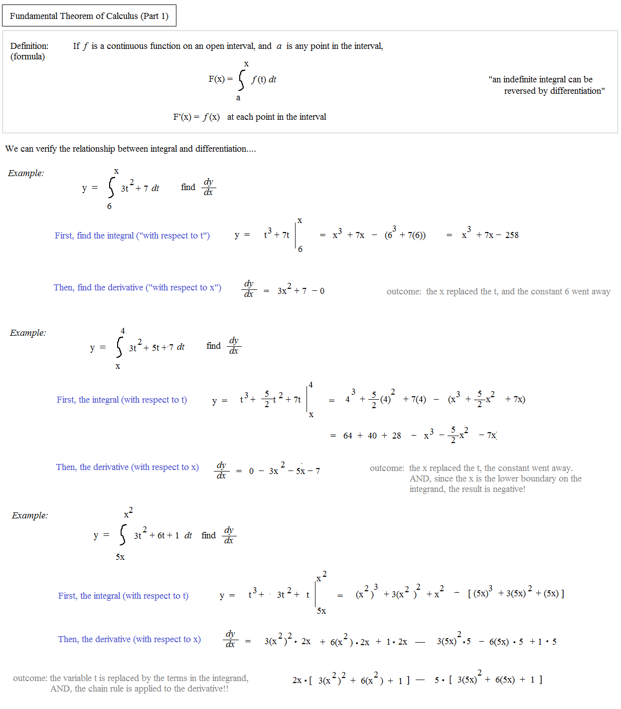 fundamental theorem of calculus and discussion The fundamental theorem of calculus in rn ulrich mutze ulrichmutze@aolcom it is shown that there is a more direct extension of the well-known fundamental.