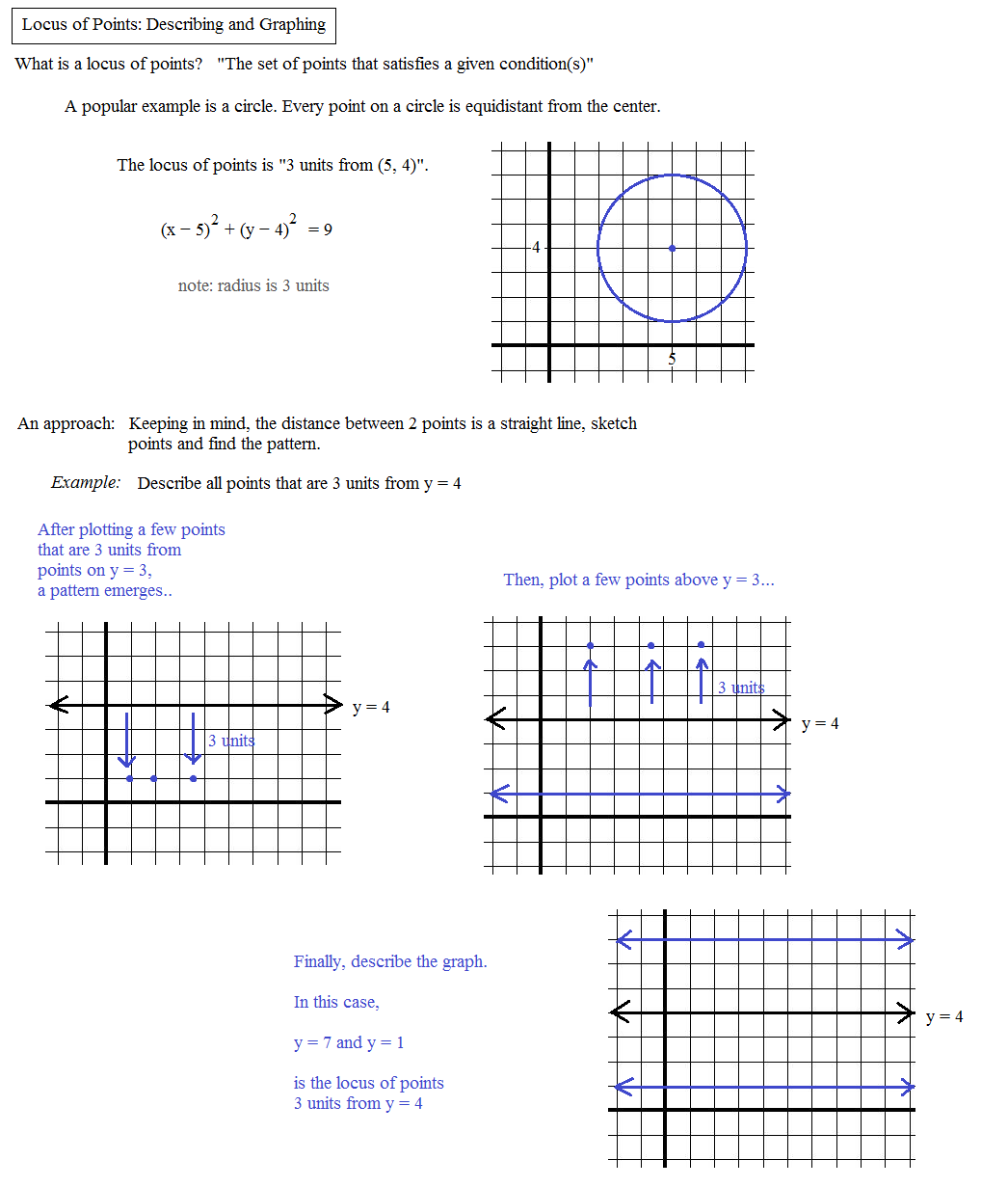 worksheet Locus Worksheet math plane locus of points geometry identify the points