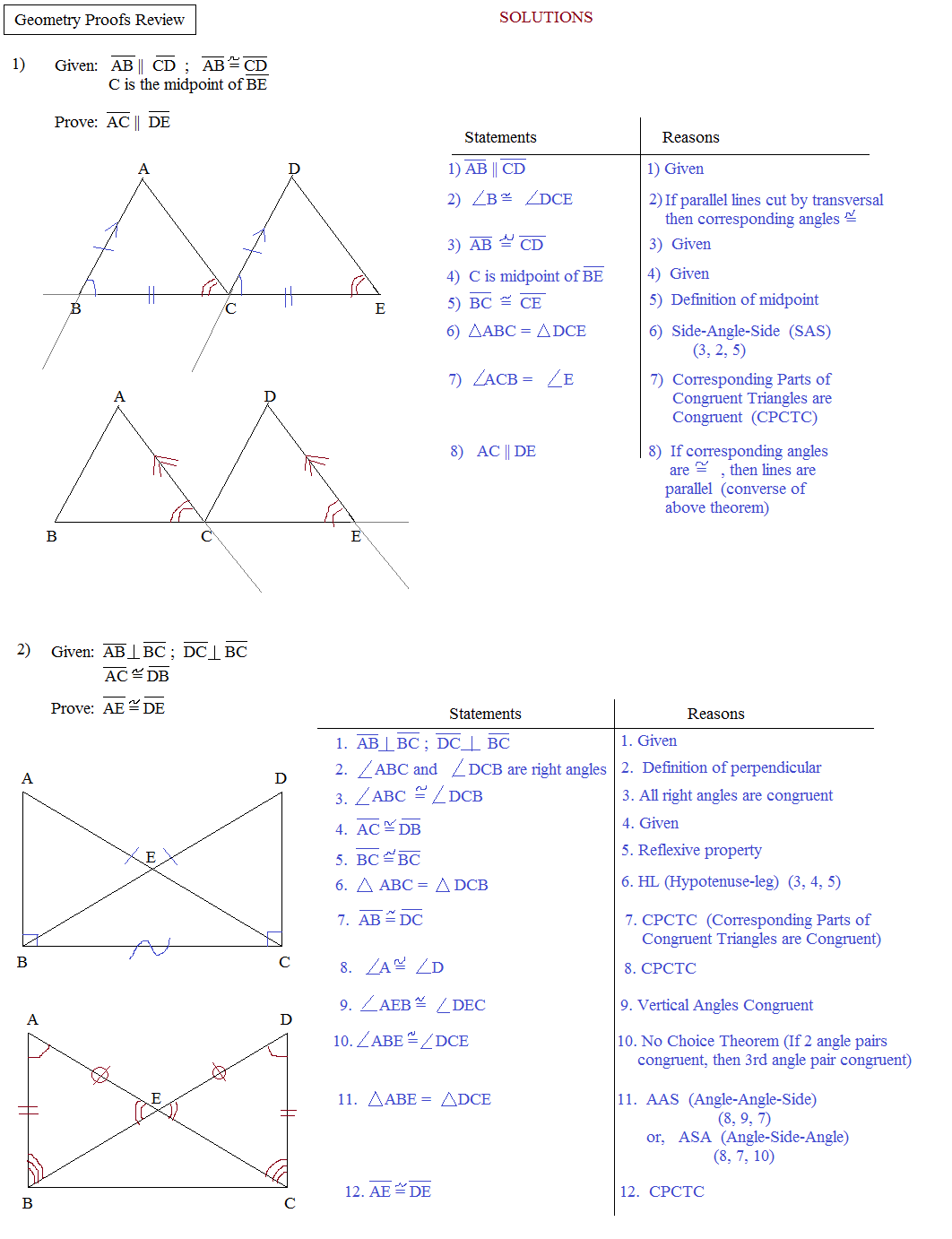 Free Worksheet. Congruent Triangle Proofs Worksheet ...