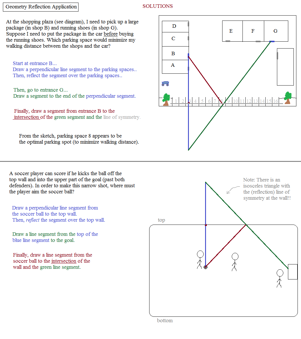 Math Plane Word Problems – Geometry Reflection Worksheet