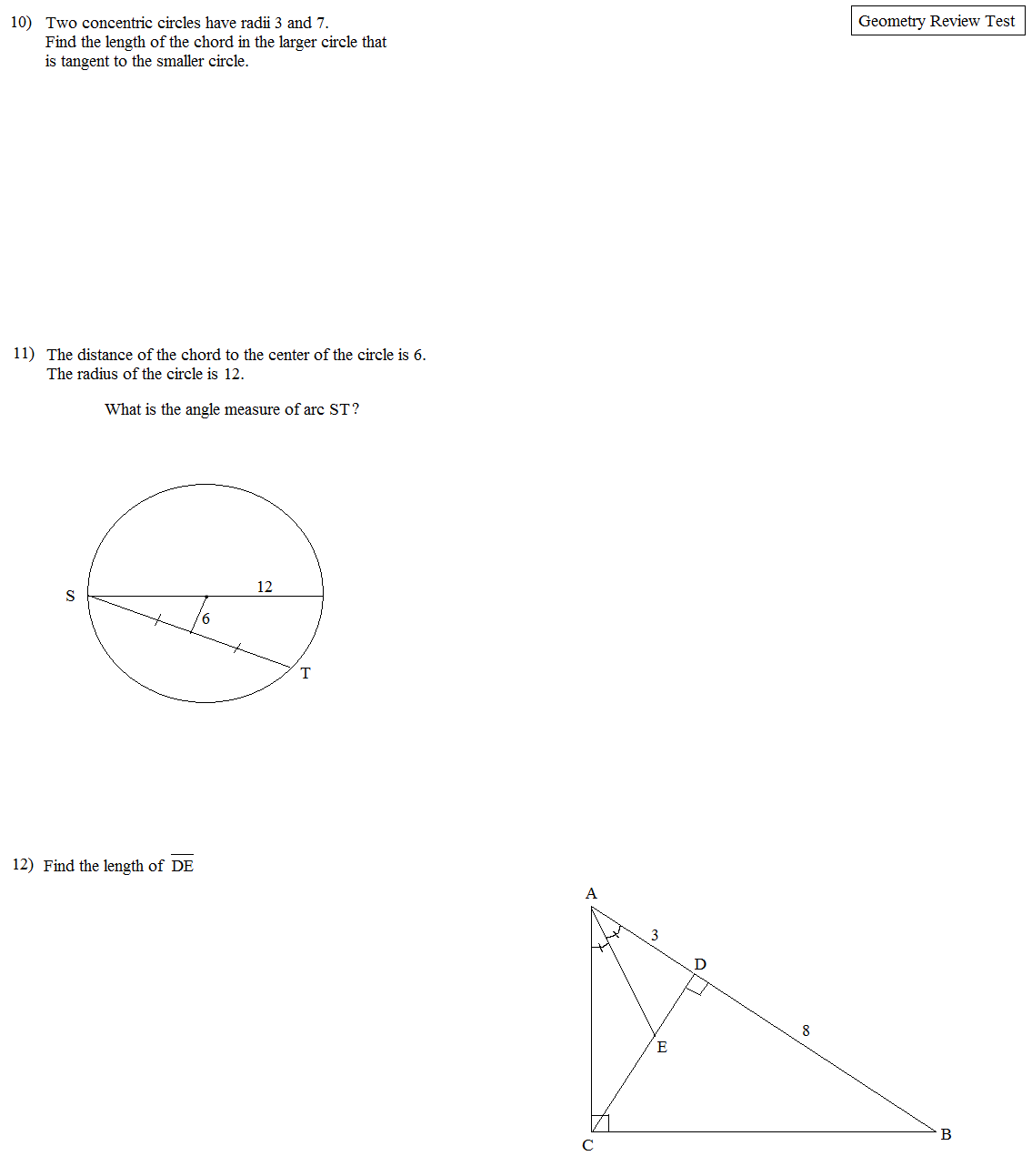 Math plane geometry review 1 geometry review 1 test 4 hexwebz Gallery