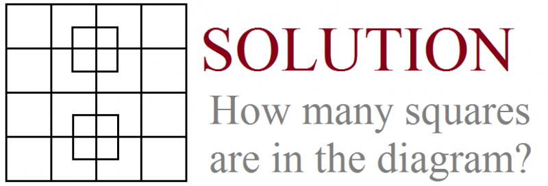 how many squares solution