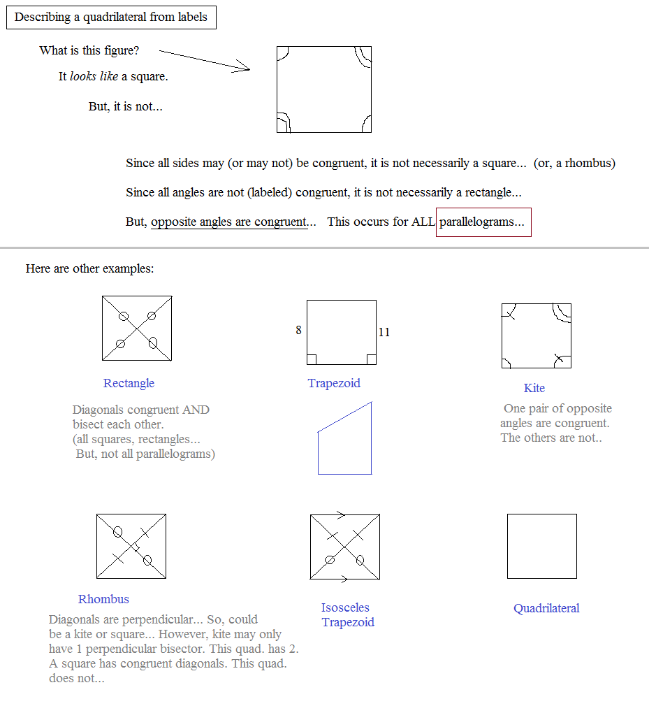 worksheet Identifying Quadrilaterals math plane special quadrilaterals 1 introduction identifying lesson