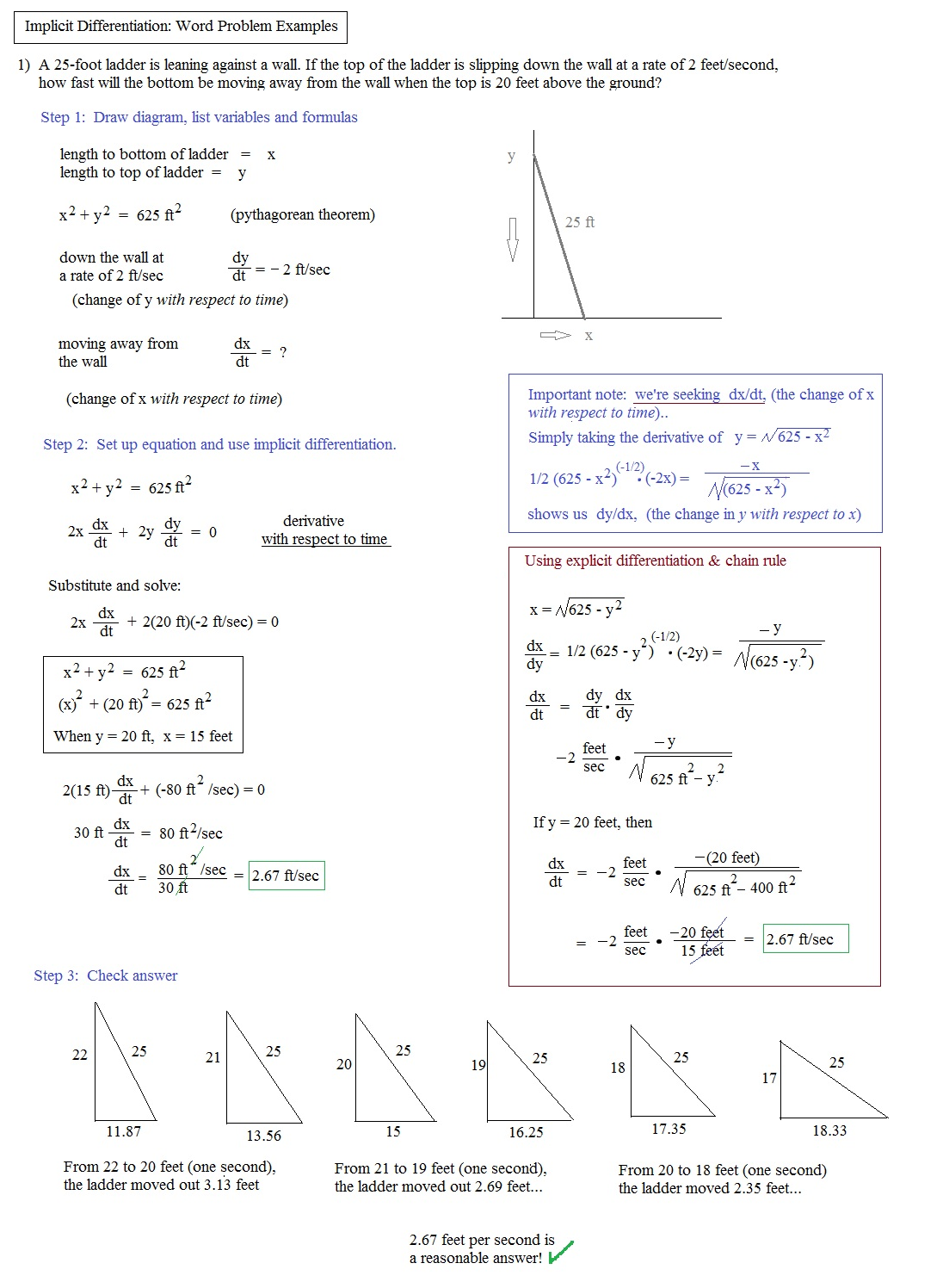 Worksheets Implicit Differentiation Worksheet math plane implicit differentiation notes and examples word problem example