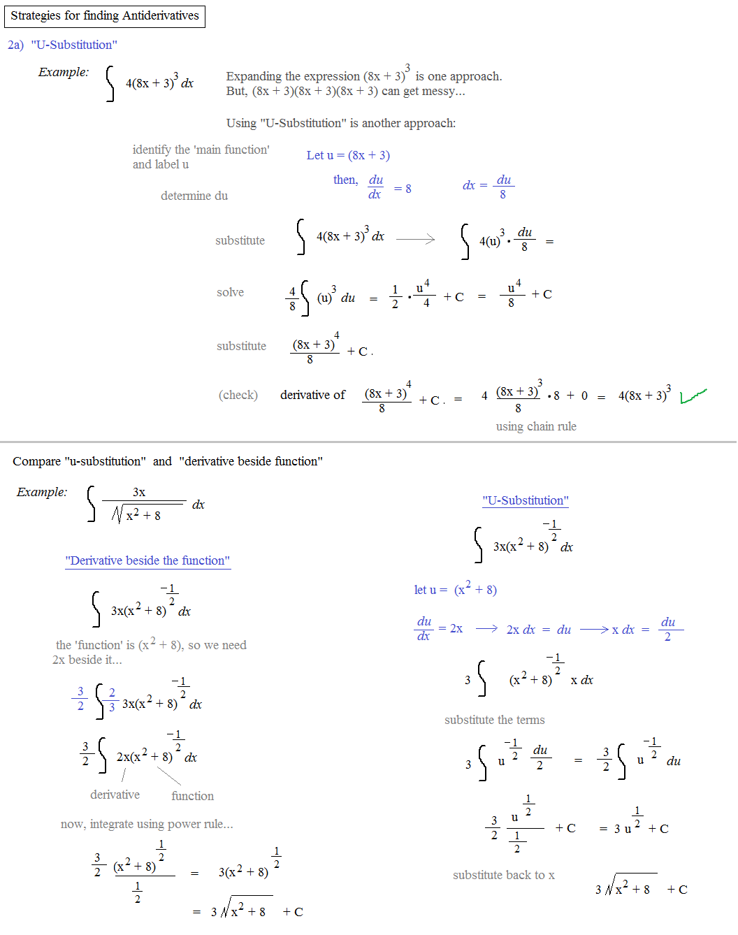 Worksheets U Substitution Worksheet math plane introduction to integrals integral comparison and u sub