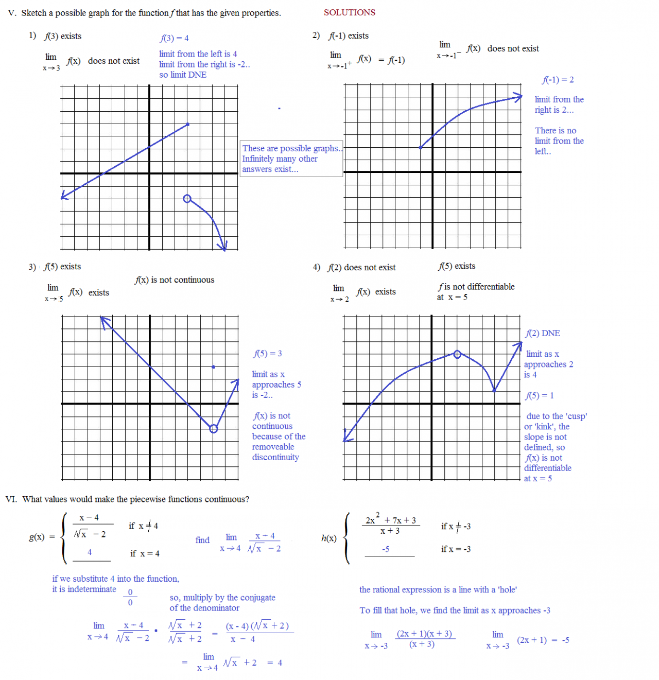 Worksheets Grade 12 Work Sheet On Limit And Continity precalculus limits and continuity worksheet intrepidpath math plane diffeiability