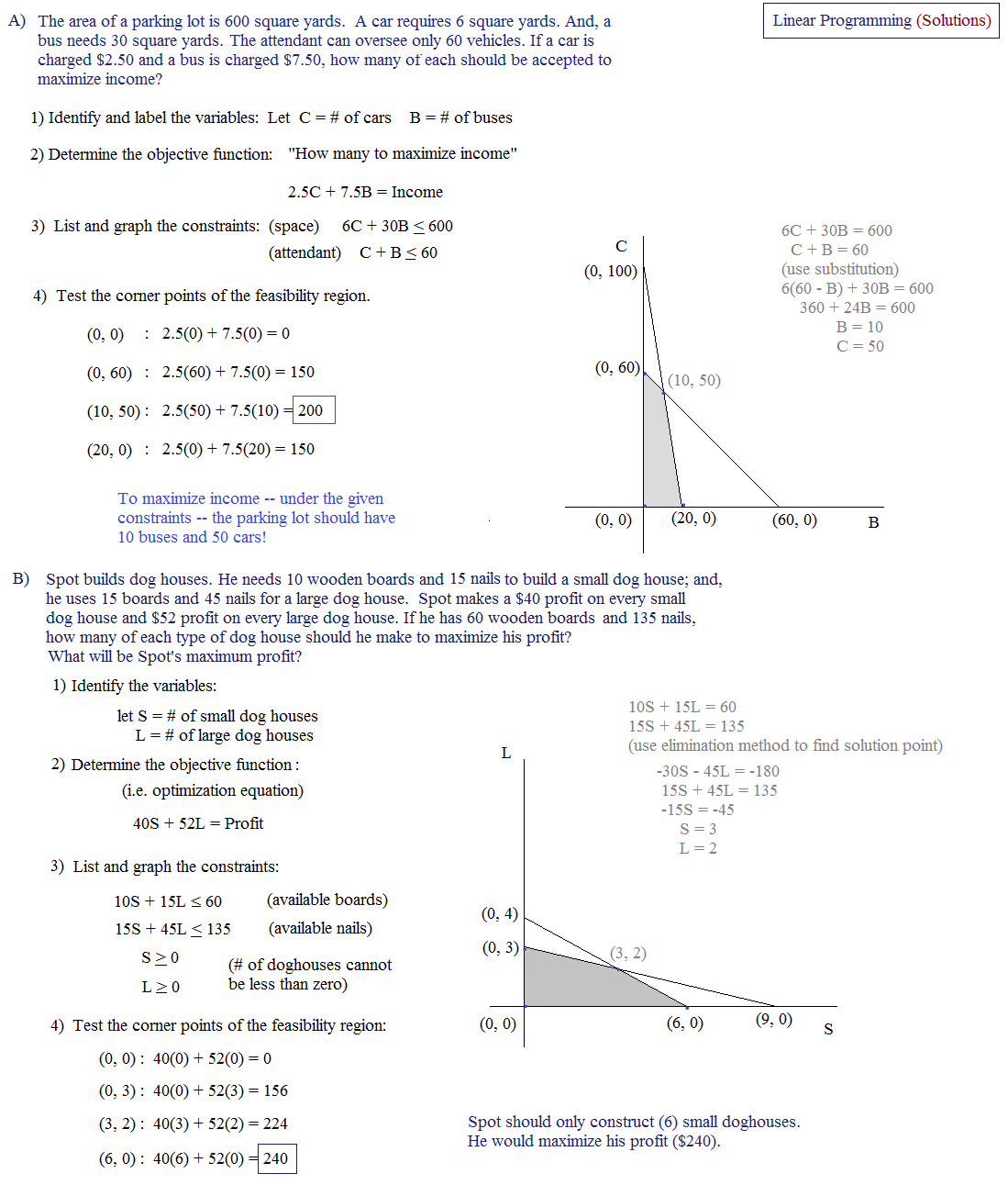 Printables Linear Programming Worksheet linear programming worksheet algebra 2 intrepidpath word problems worksheets