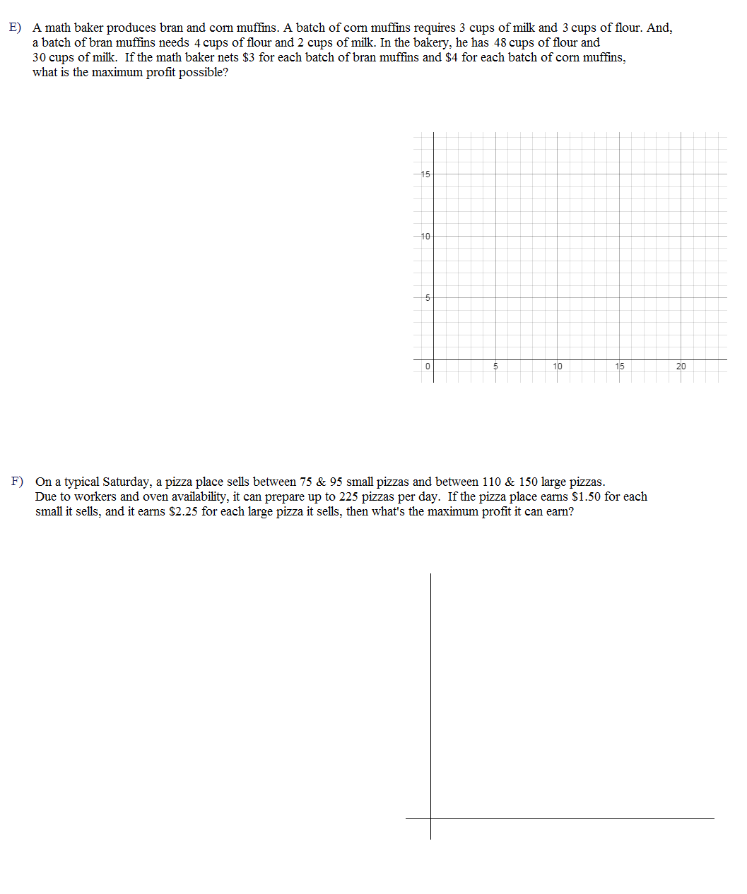 worksheet Linear Programming Worksheet math plane linear programming optimization quiz 3