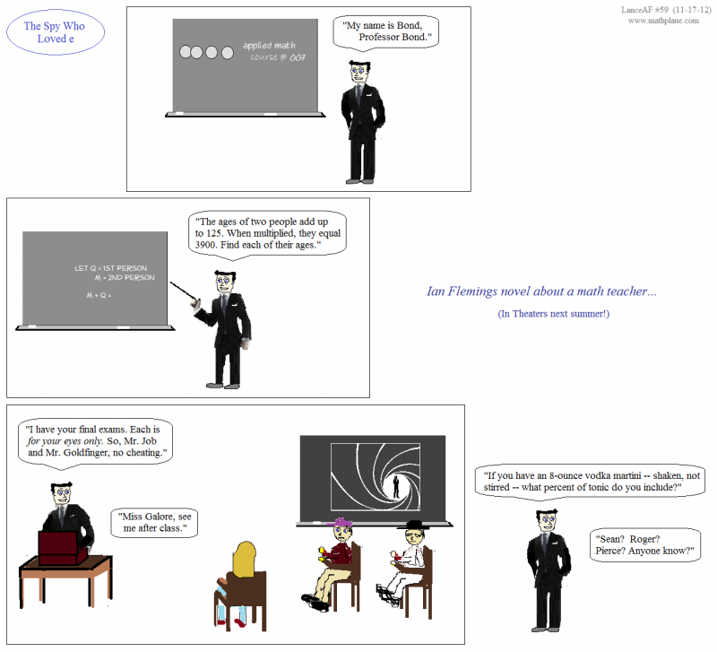 math cartoon 59 prof james bond the spy who loved e