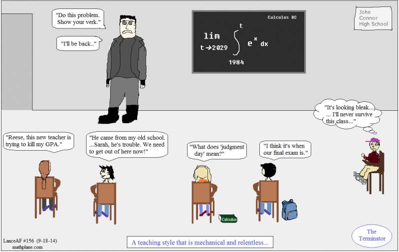 math comic 156 the terminator calclus