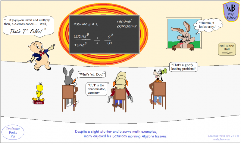 math comic 161 looney tunes - porky pig