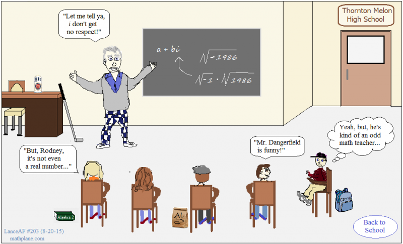 math comic 203 back to school - rodney dangerfield