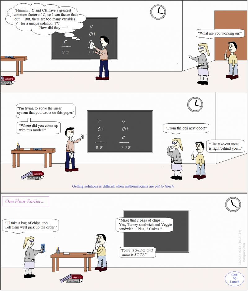 math comic 212 out to lunch