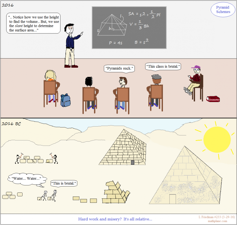 math comic 233 pyramid schemes