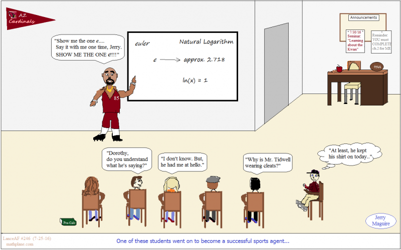 math comic 246 Jerry Maguire