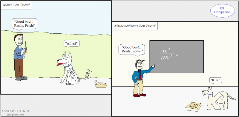 math comic 261 k9 companion