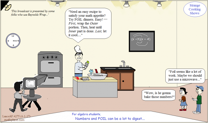 math comic 275 strange cooking shows FOIL