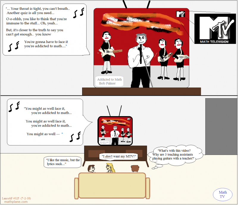 math comic 325 math television video