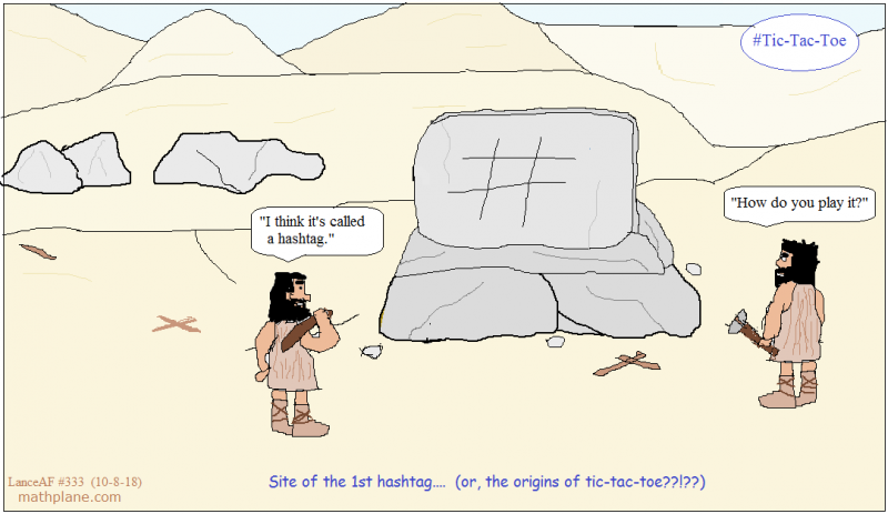 math comic 333 hashtag tic tac toe
