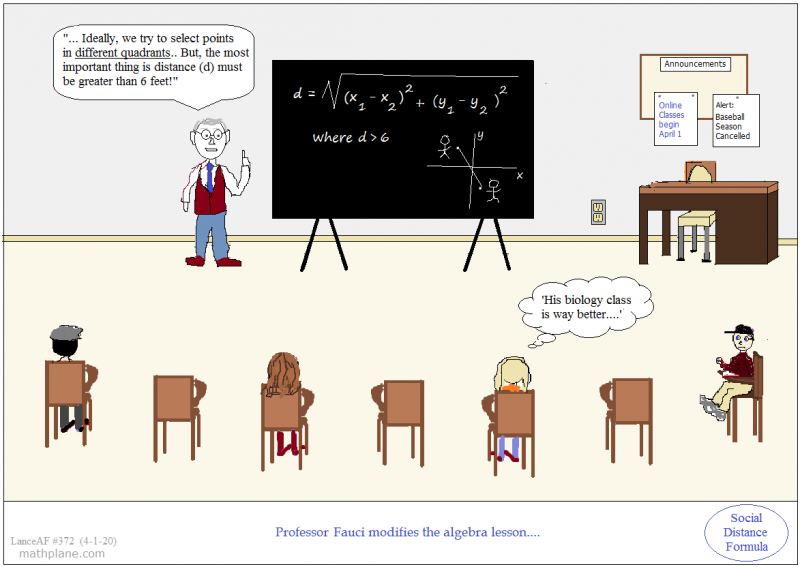 math comic 372 social distance formula