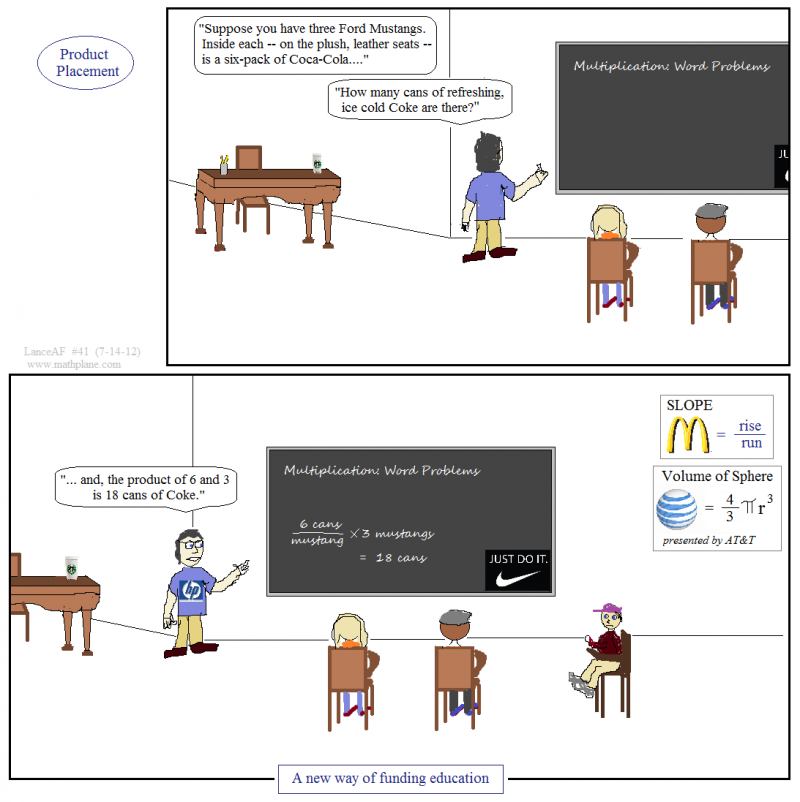 math comic 41 product placement billboards and chalkboards