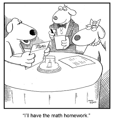 math homework for dinner by randy fredner