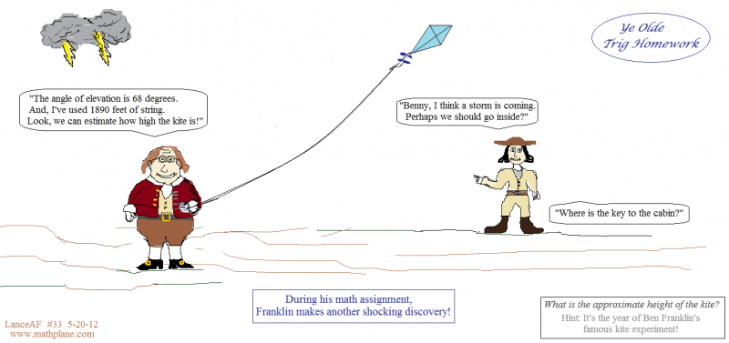 mathplane weekly comic 33 franklins ye old trig homework