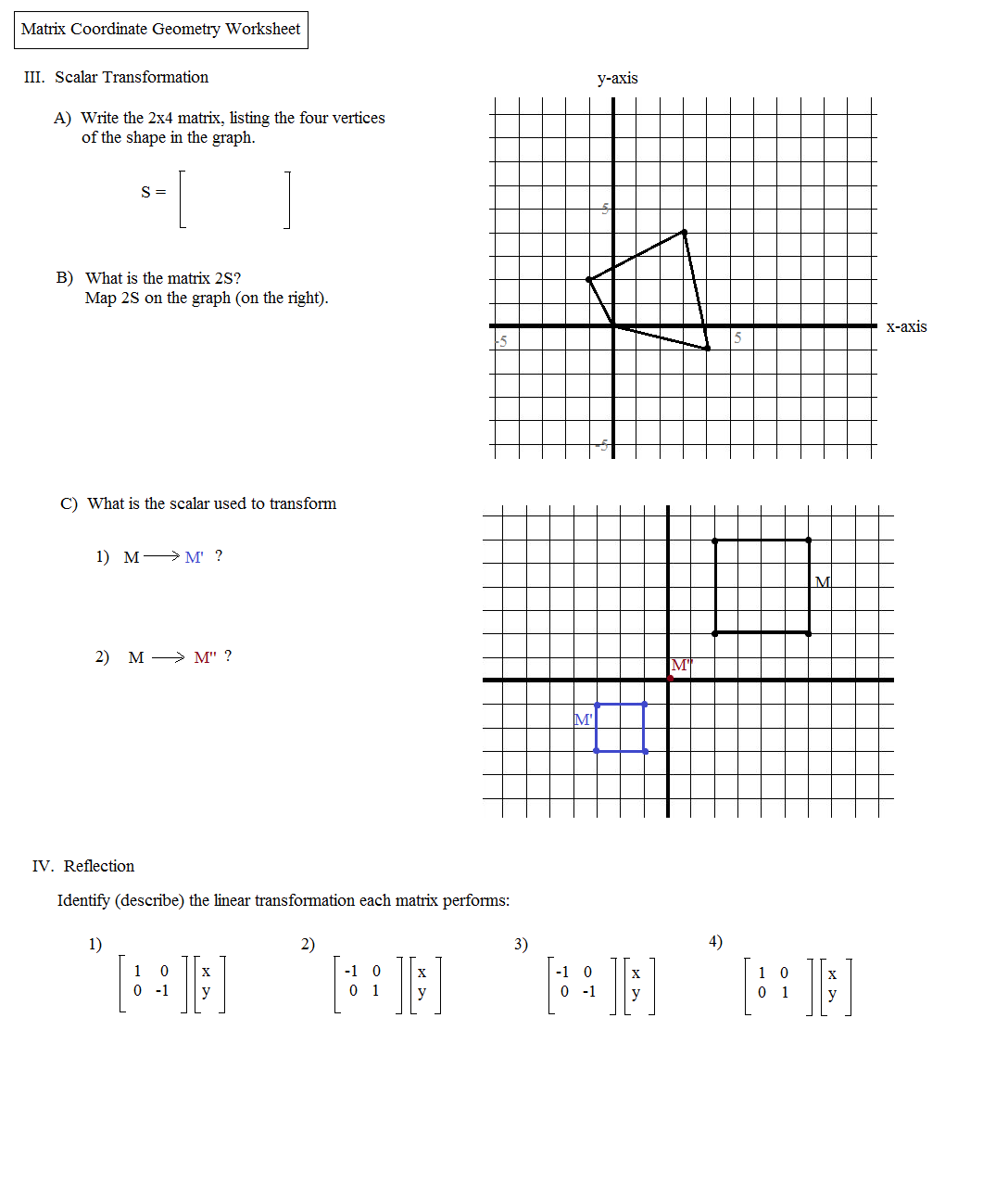 Worksheet Transformations Practice Worksheet sequence of transformations worksheet syndeomedia geometry worksheets math plane matrix iii coordinate geometry