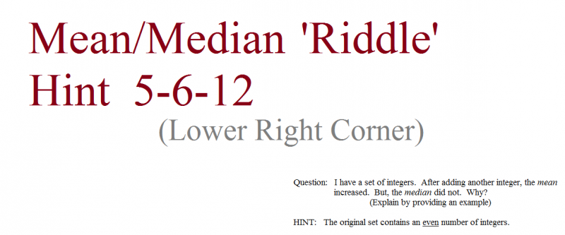 mean median question 5-6-12  hint