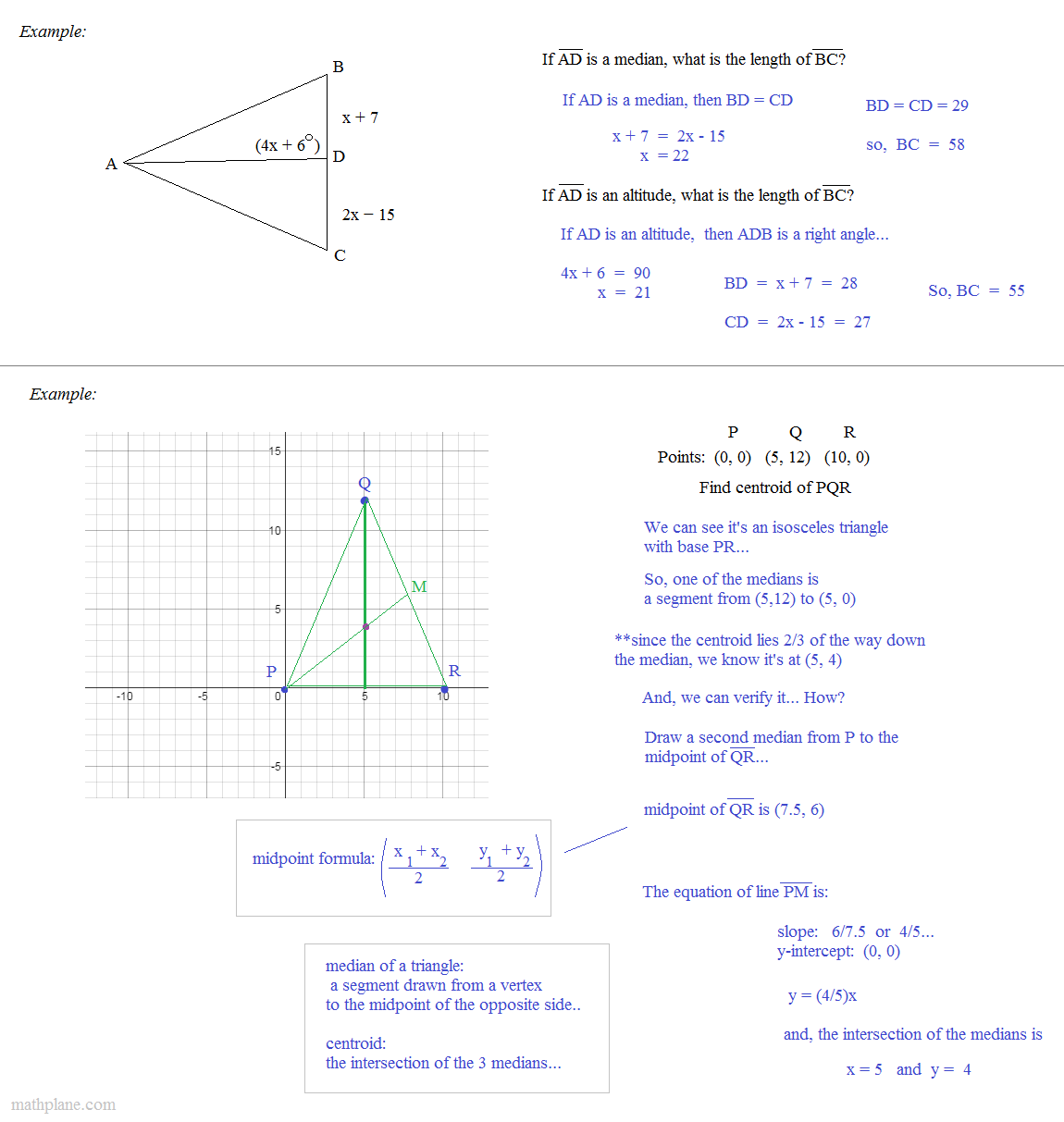 worksheet Medians And Altitudes Of Triangles Worksheet math plane triangle parts median altitude bisectors observations and centroid from points