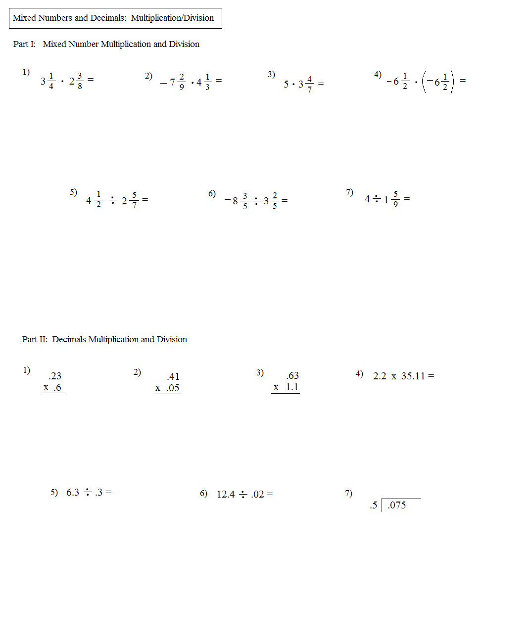 math worksheet : math worksheet dividing large numbers long division worksheets by  : Mixed Number Multiplication Worksheet