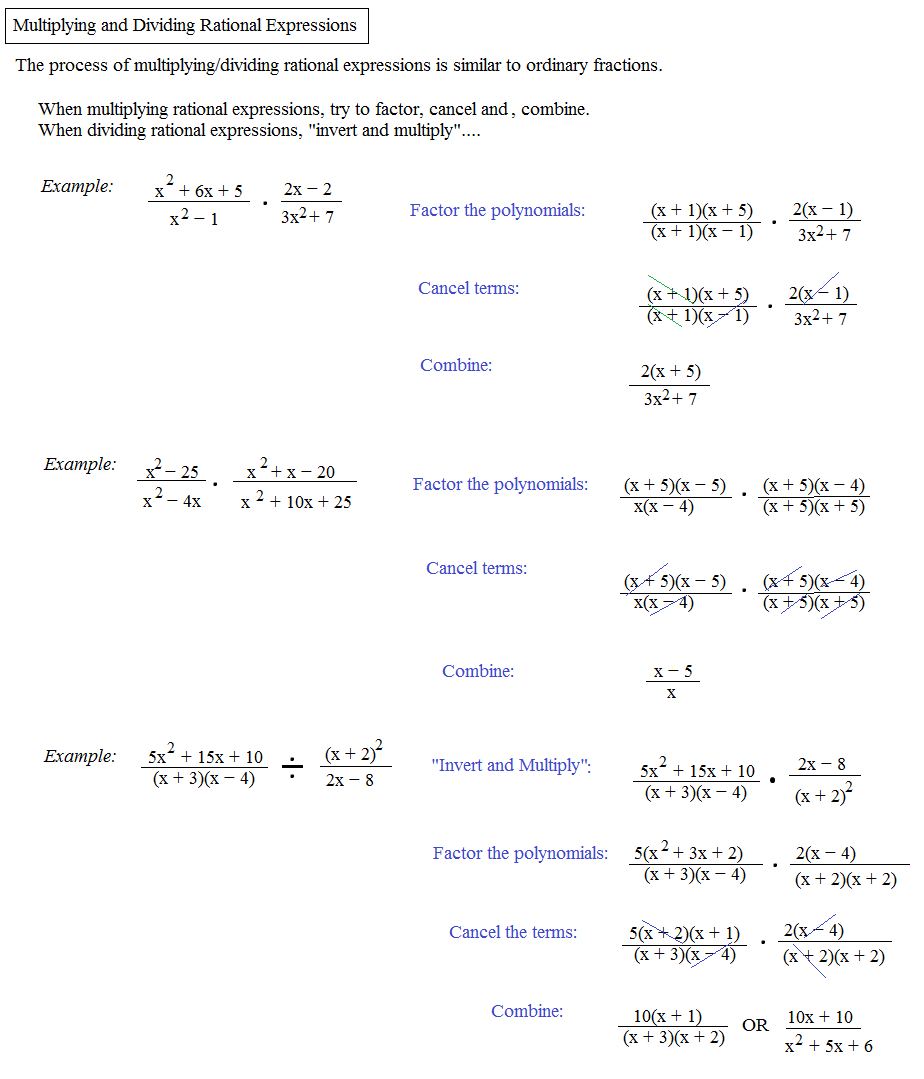 Solving Rational Equations Worksheet