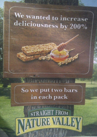 nature valley percentage mistake