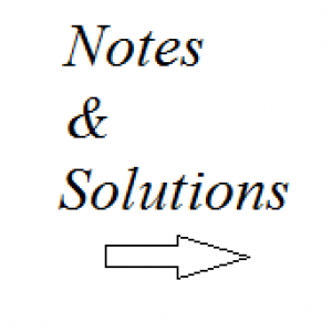 notes and solutions