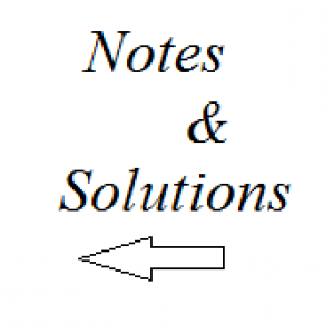 notes and solutions 2