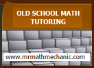 old school math tutoring emblem