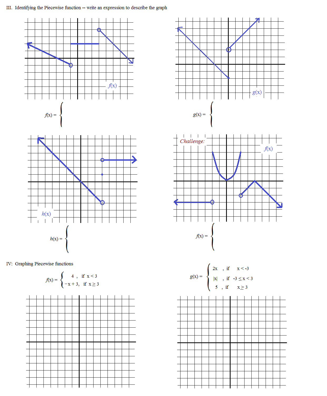 Graphing Piecewise Functions Worksheet Precommunity Printables – Piecewise Functions Worksheet with Answers