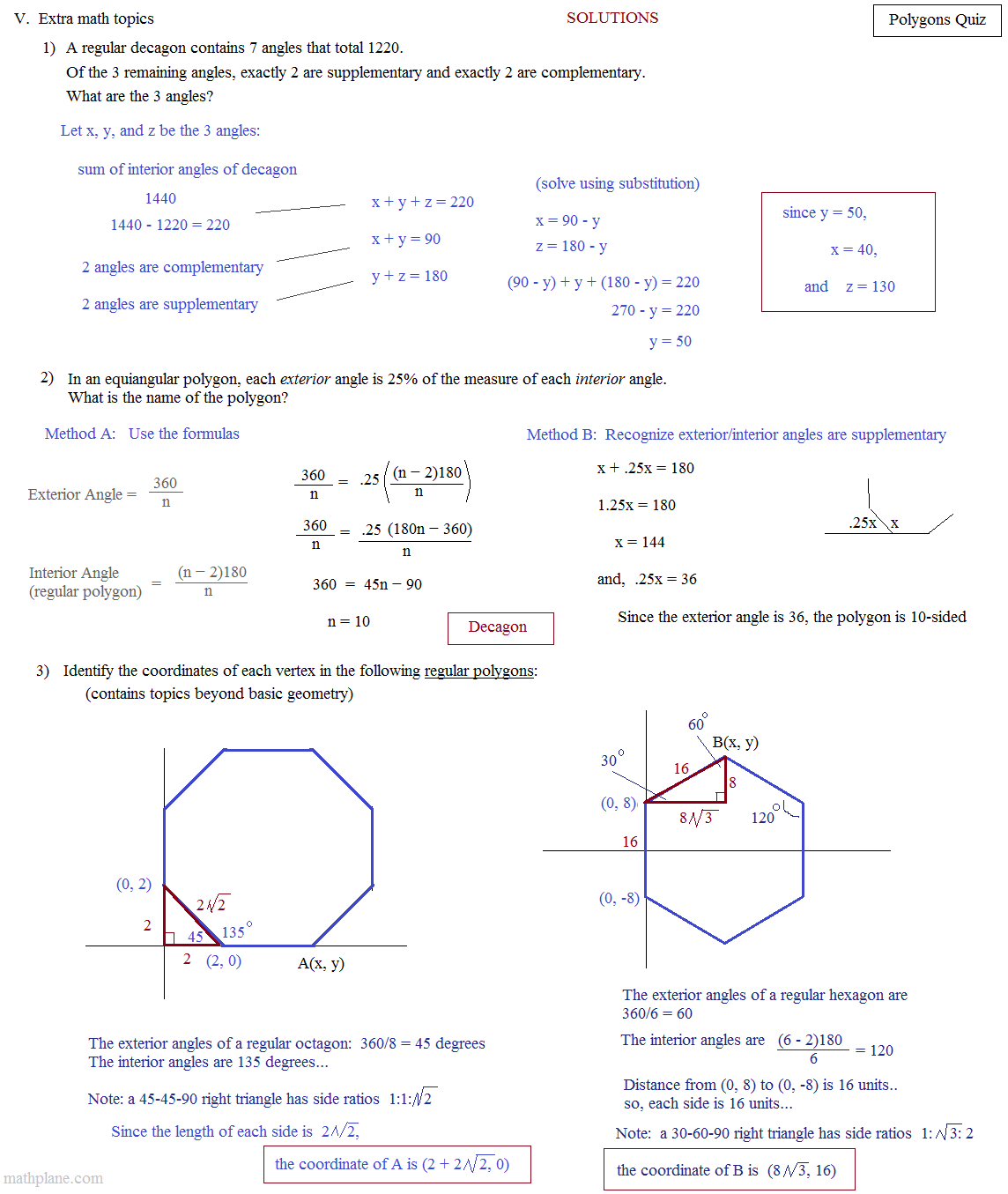 Polygons And Angles Pdf Crafthelper