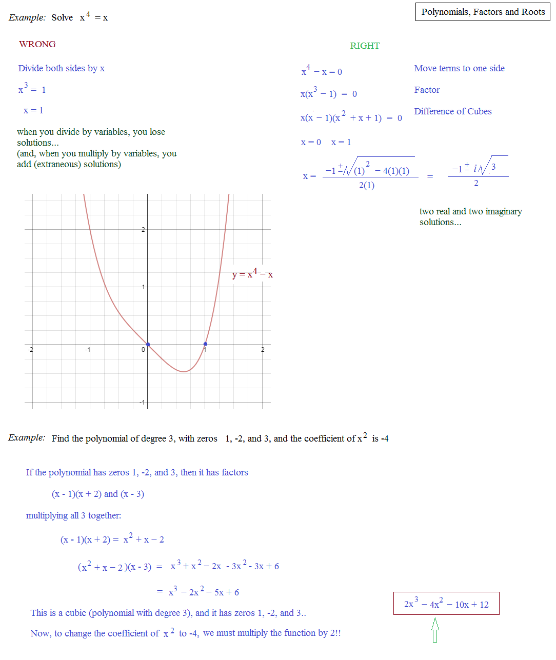 Math plane polynomials iii factors roots theorems honors polynomial factors roots theorems examples 1 ccuart Image collections