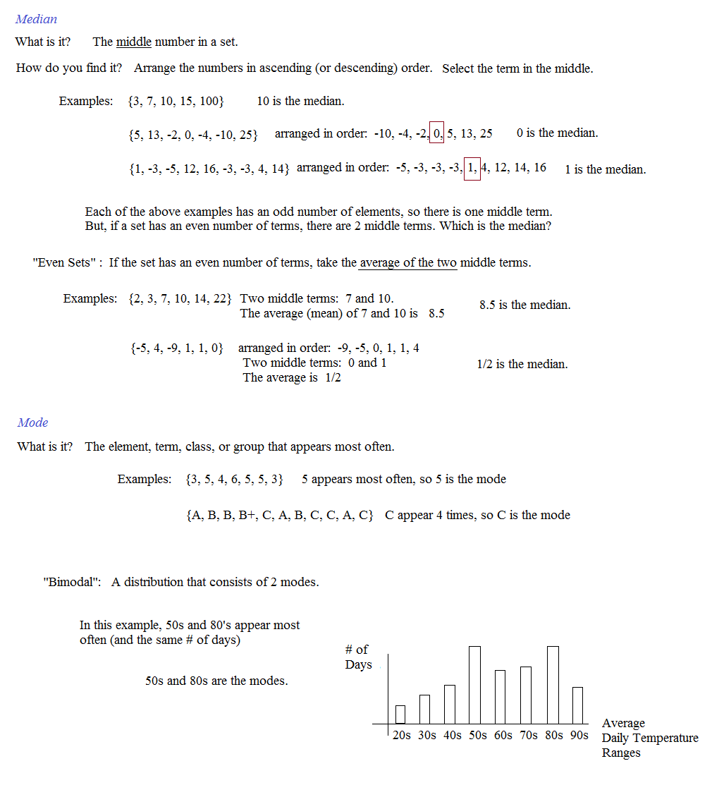 worksheet Mean Median Mode Range Printable Worksheets math plane mean median and mode pre algebra notes 2