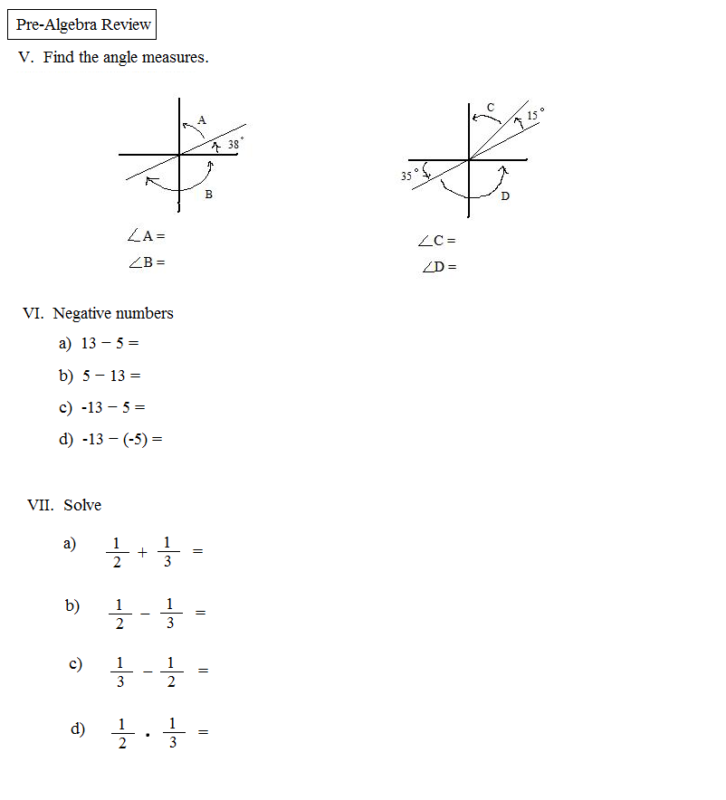 pre algebra math problems Click your pre-algebra textbook below for homework help our answers explain actual pre-algebra textbook homework problems each answer shows how to solve a textbook.