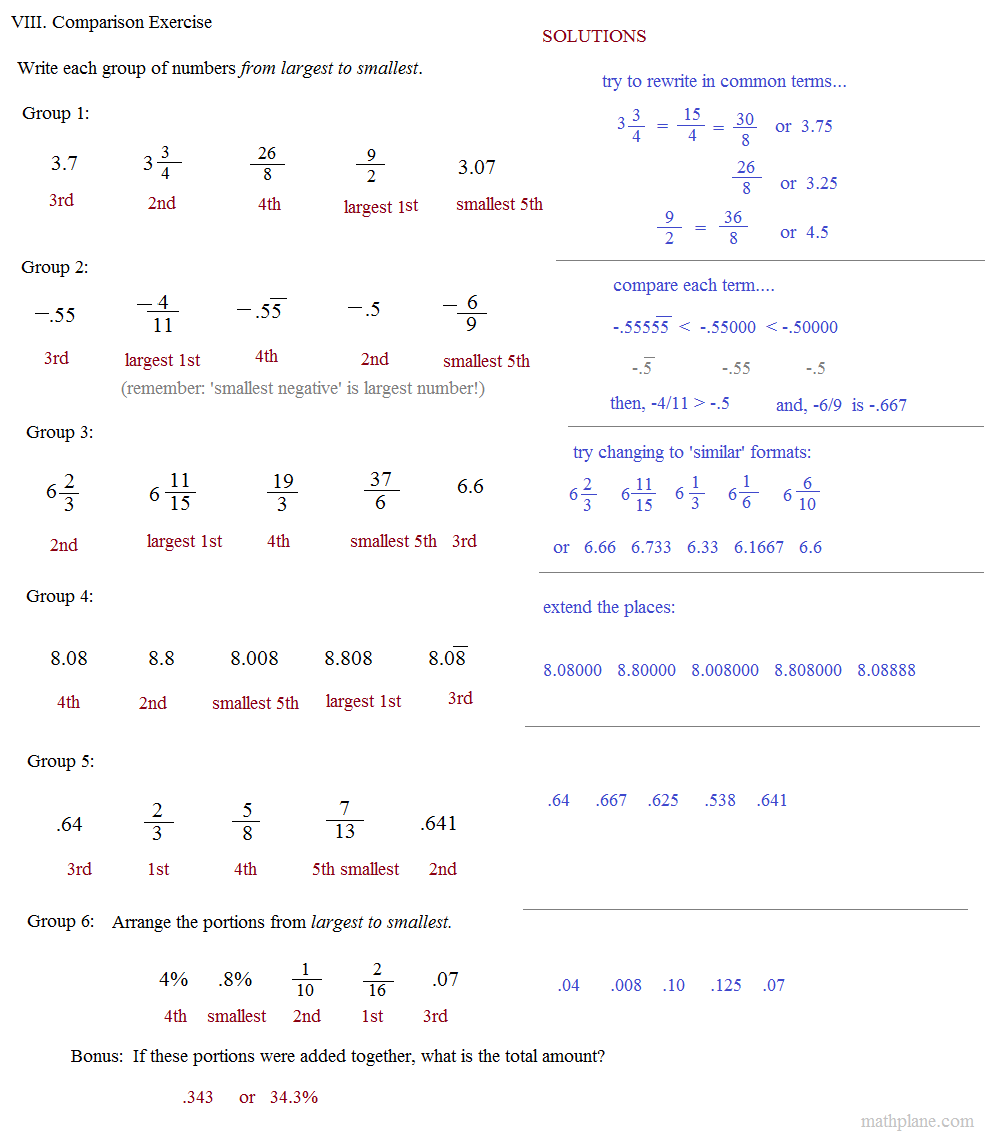 pre algebra test Five sets of free the act math practice test questions that you can use to familiarize yourself with the test instructions and format.