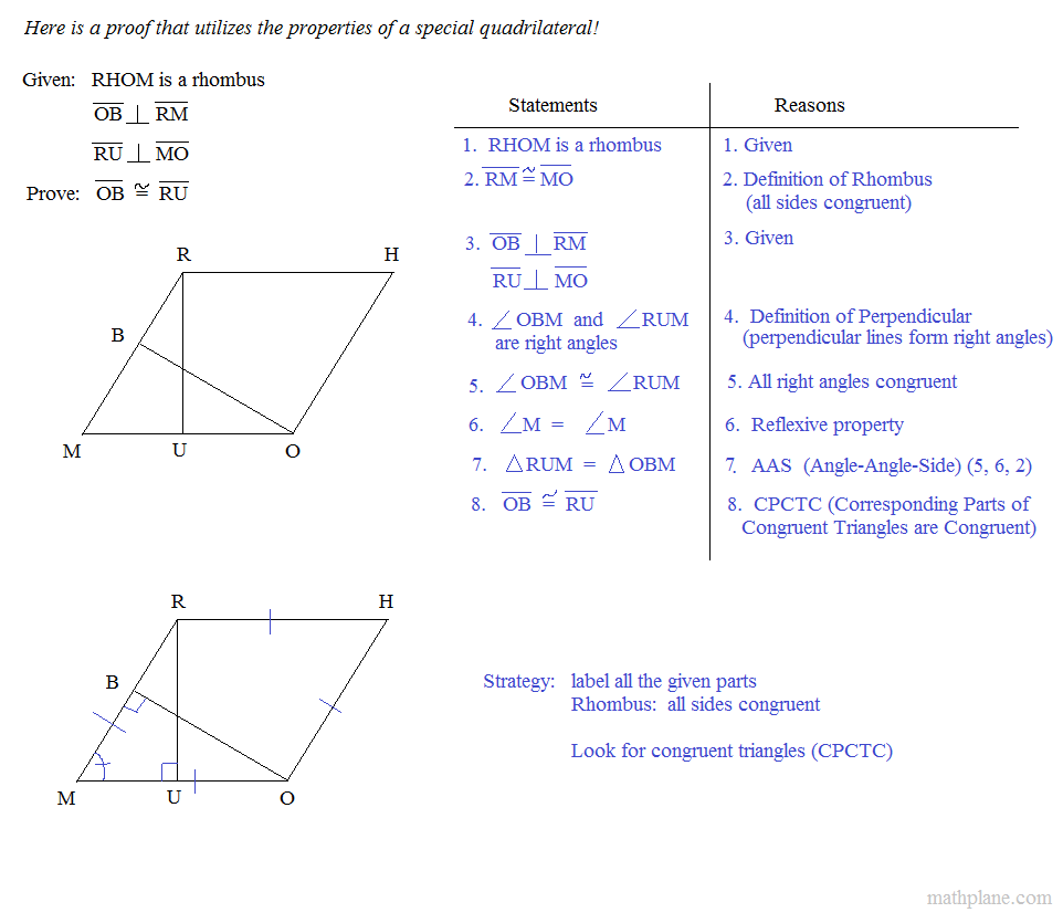 worksheet Quadrilateral Properties Worksheet math plane special quadrilaterals 1 introduction proofs utilizing properties of rhombus