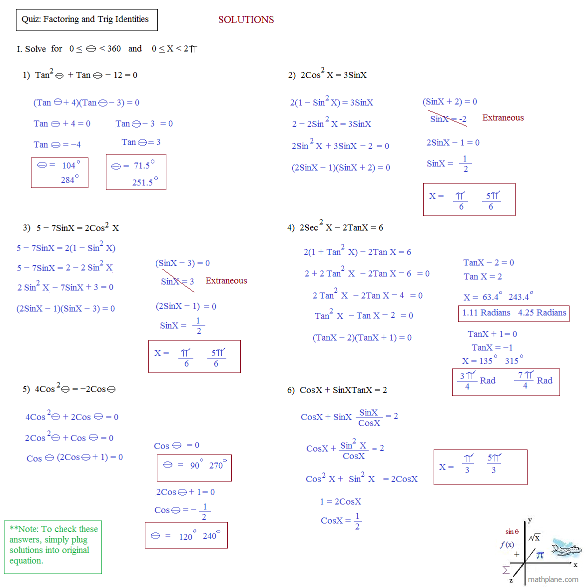 Worksheet. Trig Identities Worksheet. Ewandoo Free Printables