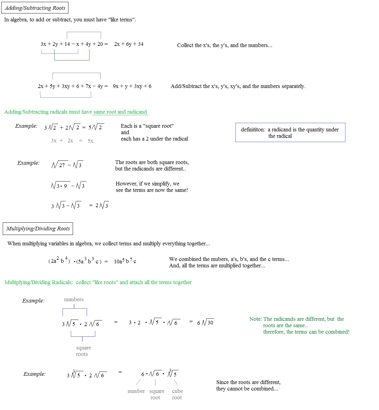 Math Plane Radicals – Dividing Radicals Worksheet